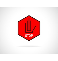 Stop hand sign vector image
