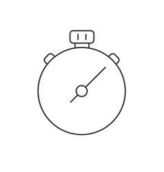 stop watch line icon on white background vector image