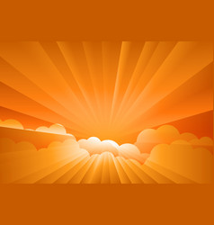sunburst sunrise vector image
