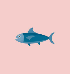Tuna ocean fish icon vector