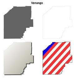 Venango Map Icon Set vector