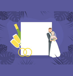 wedding day happy romantic just married couple vector image