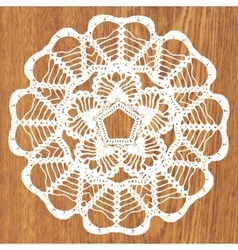 White crochet doily vector
