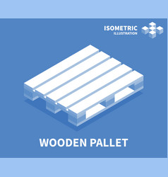 Wooden pallet icon isometric template vector