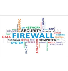 Word cloud firewall vector