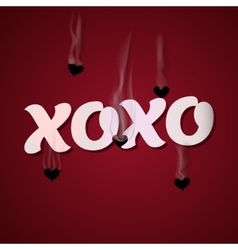 Xoxo cupid shoots bullets hearts vector