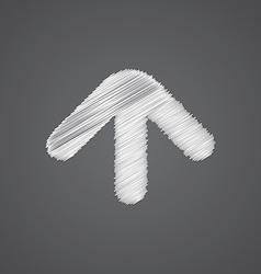 Arrow sketch logo doodle icon vector