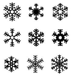 black snowflakes 2 vector image vector image