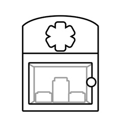 cabinet first aid medical symbol vector image