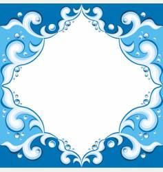 frame with aqua design vector image