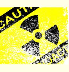 radioactive grunge sign vector image vector image