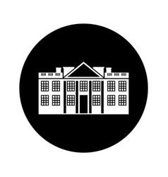 white house american icon vector image