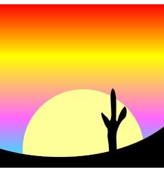 Desert sunset vector image vector image