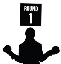 girl boxing with round vector image