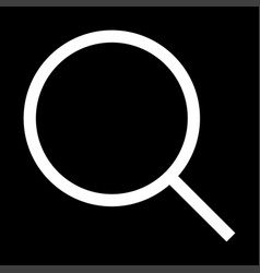 magnifying glass or loupe the white color icon vector image