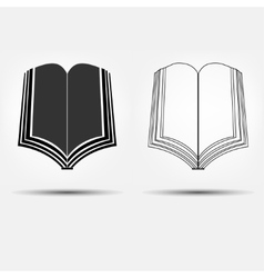 open book icons vector image