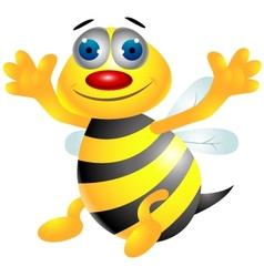 bee cartoon vector image vector image