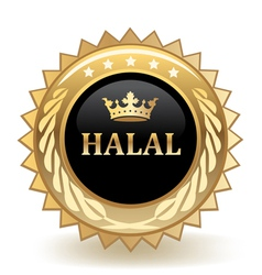 Halal Badge vector image vector image