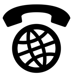 International calls worldwide icon vector image vector image