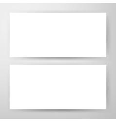 Two Horizontal Banners Mockup vector image vector image