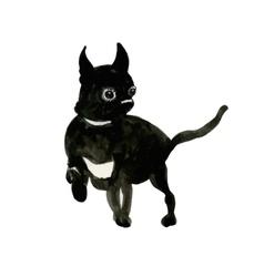 French Bulldog muzzle dark vector image vector image