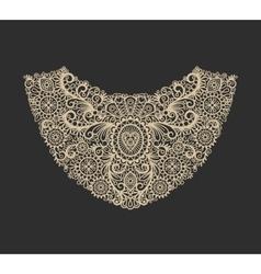 Neck print design vector image