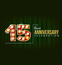 15 years anniversary banner fifteen vector image
