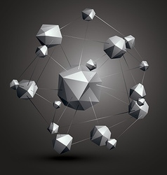 Abstract asymmetric monochrome object constructed vector