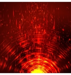 Abstract colorful shining circle tunnel vector