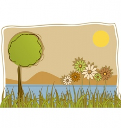 abstract nature vector image