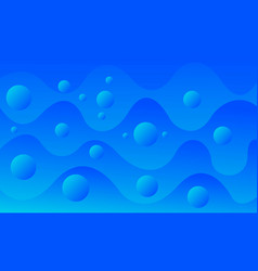 Abstract wavy blue background vector