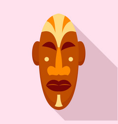 african mask icon flat style vector image