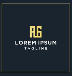 Ag or ig square logo vector