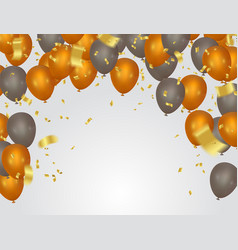 Balloons header background design element of vector