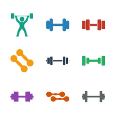 Barbell icons vector