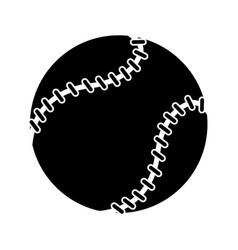 baseball ball sport game pictogram vector image vector image