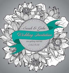 Beautiful elegant wedding invitation with graphic vector image