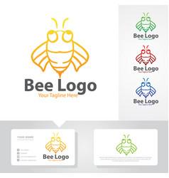 bee logo designs vector image