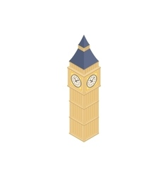 Big Ben in Westminster London icon vector image