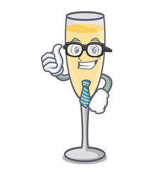businessman champagne character cartoon style vector image