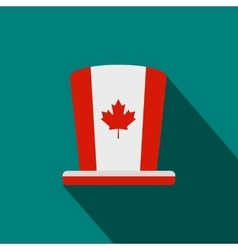 Canada Day hat icon flat style vector