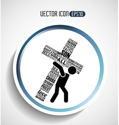 catholic icon design vector image