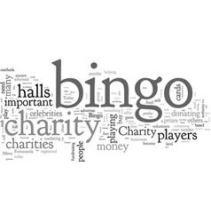 Charity bingo vector