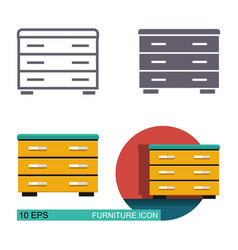 chest drawers icons vector image