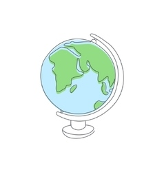 Classic School Globe vector image
