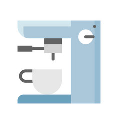 Coffee maker machine espresso machine flat icon vector