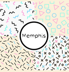 collection memphis seamless pattern vector image