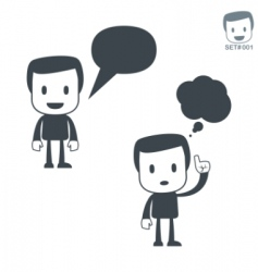 communication icon man set001 vector image vector image