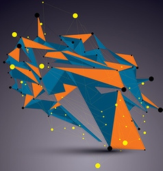 Complicated abstract colorful 3D shape bright vector