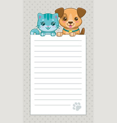 cute childish banner with funny cartoon puppy and vector image